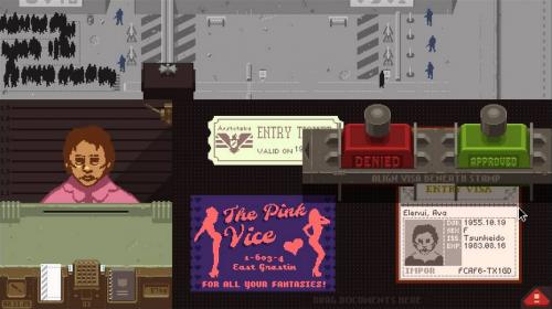 """Captura del videojoc """"Papers Please"""""""