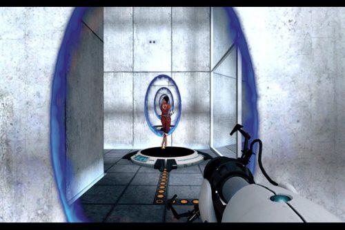 """Captura de pantalla del videojoc """"Portal""""."""